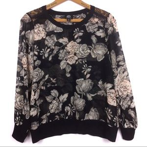 Sheer Floral Blouse/Top by Bobeau